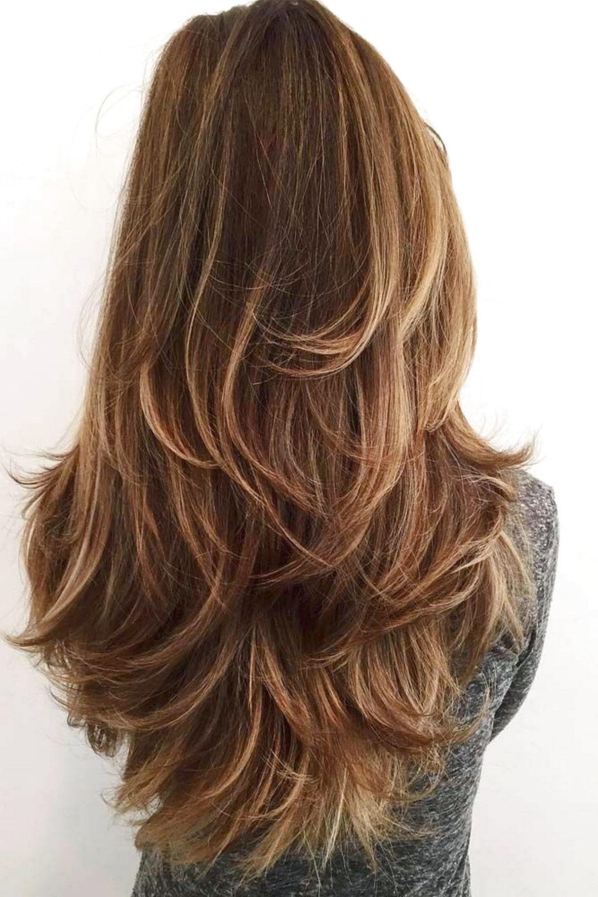 Стрижка каскад для девушек с длинными волосами